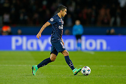 Marquinhos of Paris Saint-Germain in action - Photo mandatory by-line: Rogan Thomson/JMP - 07966 386802 - 17/02/2015 - SPORT - FOOTBALL - Paris, France - Parc des Princes - Paris Saint-Germain v Chelsea - UEFA Champions League, Last 16, First Leg.