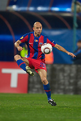 BUCHAREST, ROMANIA - Thursday, December 2, 2010: FC Steaua Bucuresti's Stanislav Angelov in action against Liverpool during the UEFA Europa League Group K match at the Stadionul Steaua. (Pic by: David Rawcliffe/Propaganda)