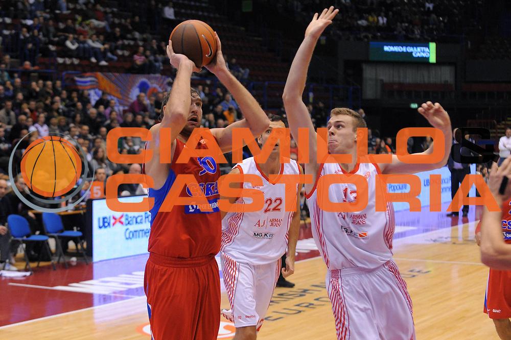 DESCRIZIONE : Milano Eurolega 2010-11 Armani Jeans Milano CSKA Mosca<br /> GIOCATORE : Dmitry Sokolov<br /> SQUADRA : CSKA Mosca<br /> EVENTO : Eurolega 2010-2011<br /> GARA :  Armani Jeans Milano CSKA Mosca<br /> DATA : 24/11/2010<br /> CATEGORIA : Tiro<br /> SPORT : Pallacanestro <br /> AUTORE : Agenzia Ciamillo-Castoria/A.Dealberto<br /> Galleria : Eurolega 2010-2011<br /> Fotonotizia : Milano Eurolega Euroleague 2010-11 Armani Jeans Milano CSKA Mosca<br /> Predefinita :