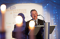 Prof Gerry Boyle, Director Teagasc speaking at the JFC Innovation awards sponsored by Teagasc, DARD Northern Ireland and the Irish Farmers Journal at the Claregalway Hotel. Photo:Andrew Downes