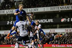 Goal, Marcin Wasilewski of Leicester City scores the equaliser, Tottenham Hotspur 1-1 Leicester City - Mandatory byline: Jason Brown/JMP - 07966386802 - 10/01/2016 - FOOTBALL - White Hart Lane - London, England - Tottenham v Leicester City - The Emirates FA Cup