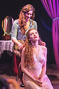 15/01/2014. Orangutan Productions presents Othello: The Moor of Venice, at Riverside Studios, London. Picture shows Gillian Saker as Desdemona & Gemma Stroyan as Emilia.