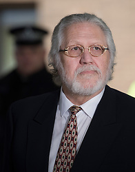© London News Pictures. 13/02/2014. London, UK. Dave lee Travis leaving Southwark Crown court with his wife Marianne Griffin after being  found not guilty of 12 counts of indecent assault. . Photo credit : Ben Cawthra/LNP