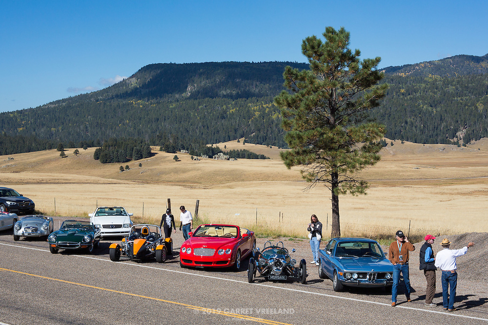 And it's a beautiful day for the Concorso at the Valles Caldera parking area. On the 2012 Santa Fe Concorso High Mountain Tour.