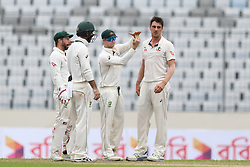 August 29, 2017 - Mirpur, Dhaka, Bangladesh - Australia Cricket team captain Steve Smith takes a review during day three of the First Test match between Bangladesh and Australia at Shere Bangla National Stadium on August 29, 2017 in Mirpur, Bangladesh. (Credit Image: © Ahmed Salahuddin/NurPhoto via ZUMA Press)