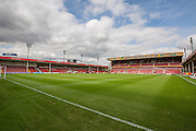 The Banks Stadium during the Sky Bet League 1 match between Walsall and Bury at the Banks's Stadium, Walsall, England on 5 September 2015. Photo by Shane Healey.
