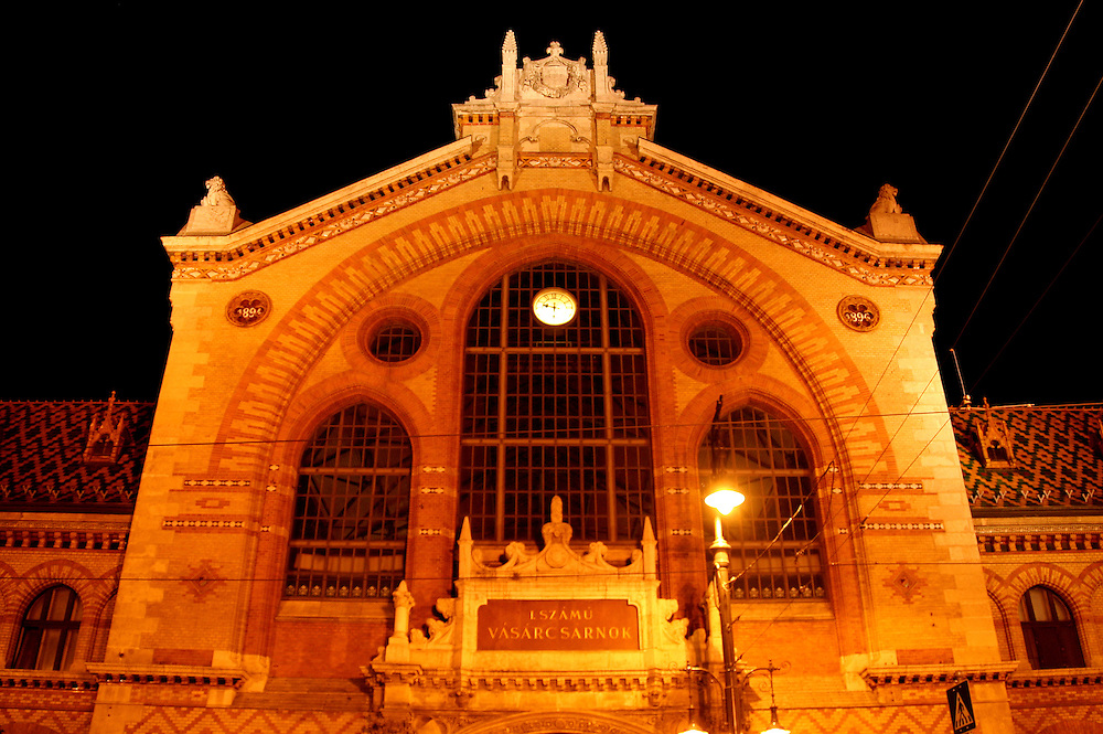 The Great Market Hall (Nagycsarnok), is the largest indoor market in Budapest, designed and built by Samu Pecz in 1896, Budapest, Hungary