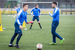 Marko Alvir and Matija Sirok during Training of NK Domzale, on January 10, 2018 in Sports park Domzale, Domzale, Slovenia. Photo by Ziga Zupan / Sportida
