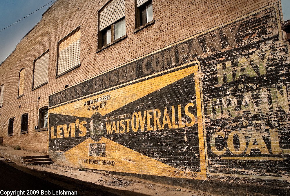 Jensen Company advertisement on building