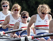 """Henley on Thames. Henley. GREAT BRITAIN;  GBR W8+ Nautilus, Left to Right, Cath BISHOP, Joanne TURVEY, Kate POLLITT and Annmarie PHELPS [nee STAPLETON]    <br /> <br /> 1995 Women's Henley Regatta. Henley Reach. River Thames.<br /> <br /> [Mandatory Credit; """"Photo, Peter Spurrier/Intersport-images]"""