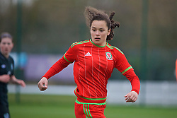 NEWPORT, WALES - Friday, April 1, 2016: Wales' Grace Horrell in action against the Republic of Ireland during Day 1 of the Bob Docherty International Tournament 2016 at Dragon Park. (Pic by David Rawcliffe/Propaganda)