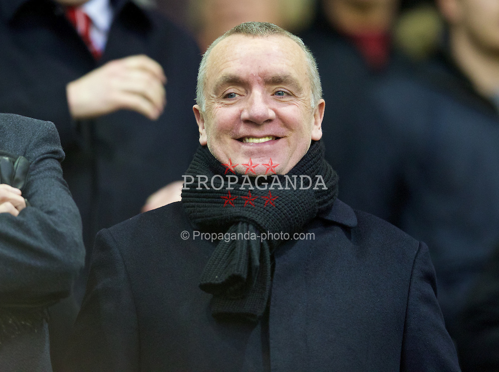 LIVERPOOL, ENGLAND - Thursday, New Year's Day, January 1, 2015: Liverpool's Managing Director Ian Ayre before the Premier League match against Leicester City at Anfield. (Pic by David Rawcliffe/Propaganda)