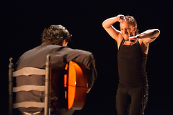 "© Licensed to London News Pictures. 10 March 2014. Pictured: Manuel Liñan dancing. London, England. ""Trasmín"" performed by the Belén Maya Company during the Flamenco Festival London 2014 at Sadler's Wells Theatre. Photo credit: Bettina Strenske/LNP"