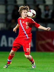Denis Davydov of Russia during football match between U21 National Teams of Slovenia and Russia in 6th Round of U21 Euro 2015 Qualifications on November 15, 2013 in Stadium Bonifika, Koper, Slovenia. Russia defeated Slovenia 1-0. Photo by Vid Ponikvar / Sportida