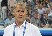 01.07.2018, Nizny Nowogrod, pilka nozna, mistrzostwa swiata, Chorwacja - Dania, N/z Trener Age Hareide (DEN), fot. Tomasz Jastrzebowski / Foto Olimpik ----- 01.07.2018, Nizhny Novgorod, football, FIFA World Cup WM Weltmeisterschaft Fussball 2018, Croatia - Denmark, In the picture: Trener Age Hareide (DEN) fot. Tomasz Jastrzebowski / Foto Olimpik / NEWSPIX.PL --- Newspix.pl FRANCE OUT! PUBLICATIONxNOTxINxPOL 20180701toja4150