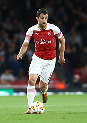 September 20, 2018 - London, England, United Kingdom - Arsenal's Sokratis Papastathopoulos.during UAFA Europa League Group E between Arsenal and FC Vorskla Poltava at Emirates stadium , London, England on 20 Sept 2018. (Credit Image: © Action Foto Sport/NurPhoto/ZUMA Press)