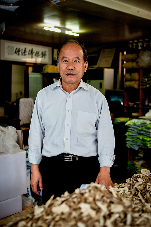 Owner of a traditional herbal medicine shop at the well known herbal market area in Daegu, South Korea.