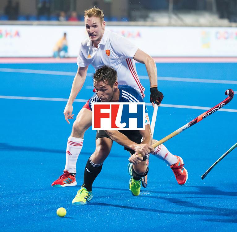 Odisha Men's Hockey World League Final Bhubaneswar 2017<br /> Match id:14<br /> England v Argentina , Quater Final<br /> Foto: Matias Paredes (Arg)  and David Ames (Eng)<br /> WSP COPYRIGHT KOEN SUYK
