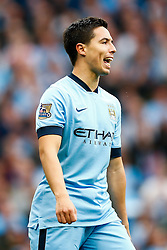 Samir Nasri of Manchester City looks frustrated after a shot misses - Photo mandatory by-line: Rogan Thomson/JMP - 07966 386802 - 30/08/2014 - SPORT - FOOTBALL - Manchester, England - Etihad Stadium - Manchester City v Stoke City - Barclays Premier League.