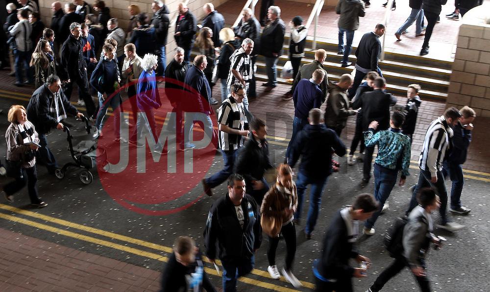 Newcastle United fans arrive at St James Park for the game against Sunderland - Mandatory byline: Robbie Stephenson/JMP - 20/03/2016 - FOOTBALL - ST James Park - Newcastle, England - Newcastle United v Sunderland - Barclays Premier League