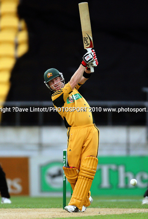 Australian batsman Brad Haddin.<br /> Fifth Chappell-Hadlee Trophy one-day international cricket match - New Zealand v Australia at Westpac Stadium, Wellington. Saturday, 13 March 2010. Photo: Dave Lintott/PHOTOSPORT