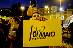 FiveStars movement electoral campaign closing rally at Piazza del Popolo in Rome on 2 Febraury 2018. Christian Mantuano / OneSho.