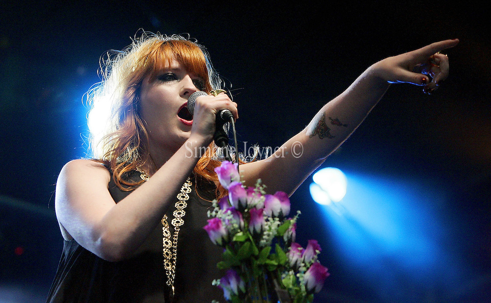 Florence and The Machine performs live on In New Music We Trust stage during day one of 'Radio 1's Big Weekend' at Lydiard Country Park on May 9, 2009 in Swindon, England.  (Photo by Simone Joyner)
