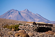Miscanti volcano seen from Socaire. Atacama, Chile.