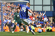 Ipswich - Sunday Aprll 19th 2009: Ipswich Town's Jon Stead scores his sides 3rd goal and celebrates during the Coca Cola League Championship match at Portman Road, Ipswich. (Pic by Paul Chesterton/Focus Images)