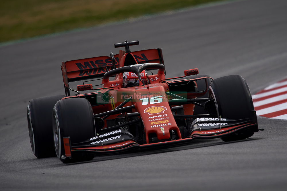 February 19, 2019 - Barcelona, Barcelona, Spain - Charles Leclerc of Monaco driving the (16) Scuderia Ferrari Mission Winnow SF90 during day two of F1 Winter Testing at Circuit de Catalunya on February 19, 2019 in Montmelo, Spain. (Credit Image: © Jose Breton/NurPhoto via ZUMA Press)