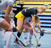 BARNEVELD - Hoofdklasse zaalhockey dames. Den Bosch-Rotterdam (1-0). Sian Keil (Den Bosch). COPYRIGHT KOEN SUYK