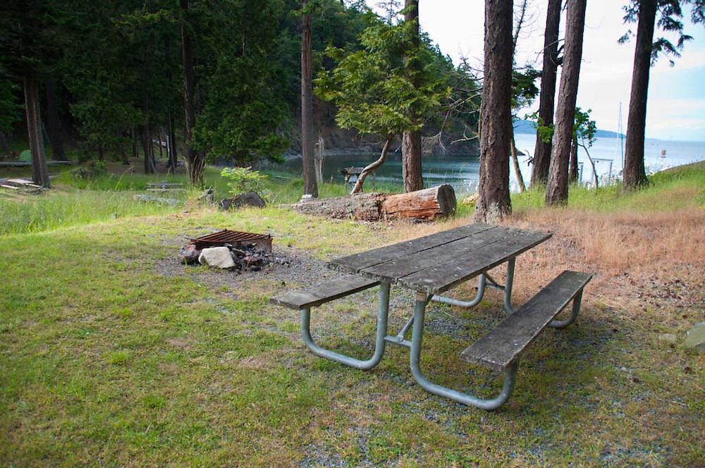 Camp Site, Jones Island, San Juan Islands, Washington, US