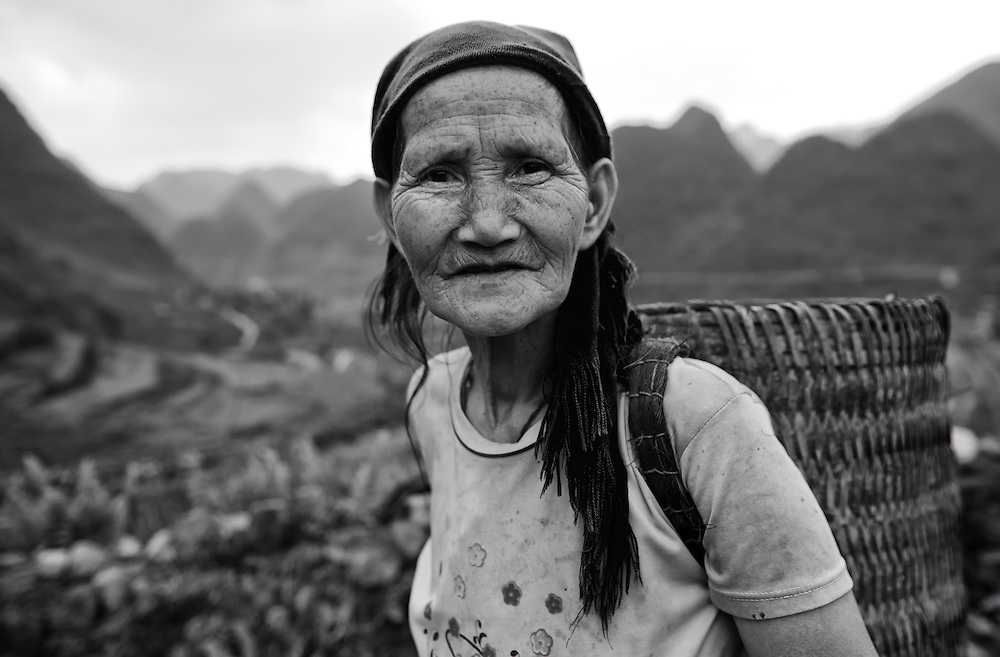 A corn farmer in the Dong Van Plateu, Vietnam.