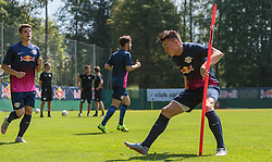 07.07.2015, Steinbergstadion, Leogang, AUT, Trainingslager, RB Leipzig, im Bild v.l.: Marcel Sabitzer (RB Leipzig) und Nils Quaschner (RB Leipzig) // during the Trainingscamp of German 2nd Bundesliga Club RB Leipzig at the Steinbergstadium in Leogang, Austria on 2015/07/07. EXPA Pictures © 2015, PhotoCredit: EXPA/ JFK
