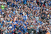 Halifax supporters during the FA Trophy match between Grimsby Town FC and Halifax Town at Wembley Stadium, London, England on 22 May 2016. Photo by Mark P Doherty.