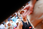 Wang Qiang (CHN) during the Roland Garros French Tennis Open 2018, day 1, on May 27, 2018, at the Roland Garros Stadium in Paris, France - Photo Stephane Allaman / ProSportsImages / DPPI