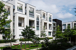 New luxury apartment buildings in gentrified district of Prenzlauer Berg Berlin Germany