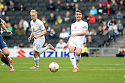 Milton Keynes Dons Dons midfielder Darren Potter (8) looks to release the ball during the EFL Sky Bet League 1 match between Milton Keynes Dons and Southend United at stadium:mk, Milton Keynes, England on 22 October 2016. Photo by Dennis Goodwin.