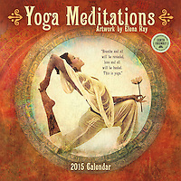 2015 Yoga Meditations Wall Calendar: Amber Lotus Publishing, by Elena Ray (Illustrator)<br />