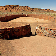 The ballcourt near Wupatki Pueblo - Wupatki National Monument, AZ