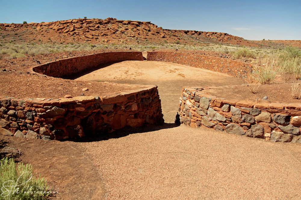The ballcourt near Wupatki Pueblo - Wupatki National Monument, AZ