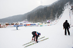 Hill during Normal Hill Individual Competition at FIS World Cup Ski jumping Ladies Ljubno 2012, on February 11, 2012 in Ljubno ob Savinji, Slovenia. (Photo By Vid Ponikvar / Sportida.com)
