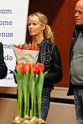Van Grunsven Anky (NED)with the tulip Salinero, named after her top horse<br /> CDI-W Amsterdam 2010<br /> © Hippo Foto - Leanjo de Koster