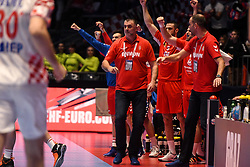 Nenad Peruncic, head coach of Serbia, during the handball match between National teams of Serbia and Croatia in Group A of Men's EHF EURO 2020 on January 13, 2020 in Stadhalle Graz, Graz, Austria