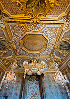 Palace of Versailles. Ornate detail on ceiling.
