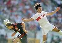 FUSSBALL   1. BUNDESLIGA  SAISON 2011/2012   3. Spieltag     20.08.2011 VfB Stuttgart - Bayer Leverkusen        Serdar Tasci (VfB Stuttgart,re) gegen Daniel Schwaab (Bayer 04 Leverkusen,li)