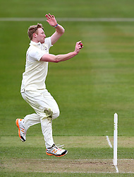 Liam Norwell of Gloucestershire bowls - Mandatory by-line: Robbie Stephenson/JMP - 01/04/2016 - CRICKET - Bristol County Ground - Bristol, United Kingdom - Gloucestershire v Durham MCC University - MCC University Match