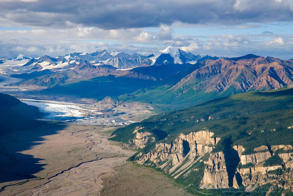 Nizina  Glacier and River Valley, Wrangell-St. Elias National Park Alaska