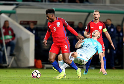 Daniel Sturridge of England goes past Jasmin Kurtic of Slovenia - Mandatory by-line: Robbie Stephenson/JMP - 11/10/2016 - FOOTBALL - RSC Stozice - Ljubljana, England - Slovenia v England - World Cup European Qualifier