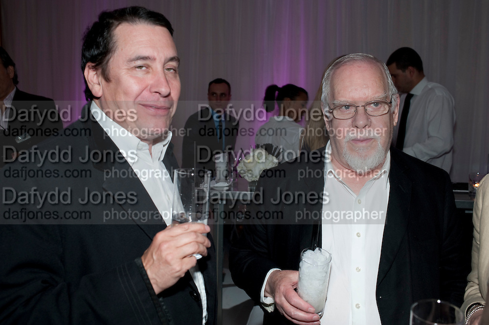 JOOLS HOLLAND; SIR PETER BLAKE, Told, The Art of Story by Simon Aboud. Published by Booth-Clibborn editions. Book launch party, <br /> St Martins Lane Hotel, 45 St Martins Lane, London WC2. 8 June 2009